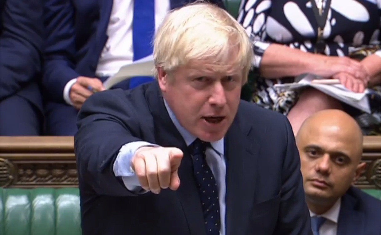 Boris Johnson verloor dinsdag de controle. Beeld AFP