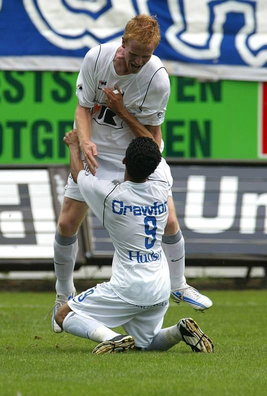 Wouter Vrancken speelde zowel tegen Boussoufa als met hem - hier bij AA Gent.