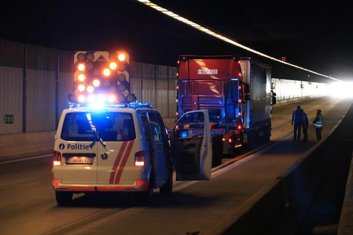 Rond 15.15 uur deed zich een tweede aanrijding voor met vrachtwagens.