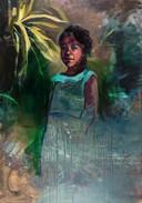 Werk van Colombiaanse kunstenares Juliana Rios Martinez, artist in residence in Esbeek.