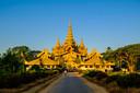 Een blik op het koninklijk paleis in Myanmar.