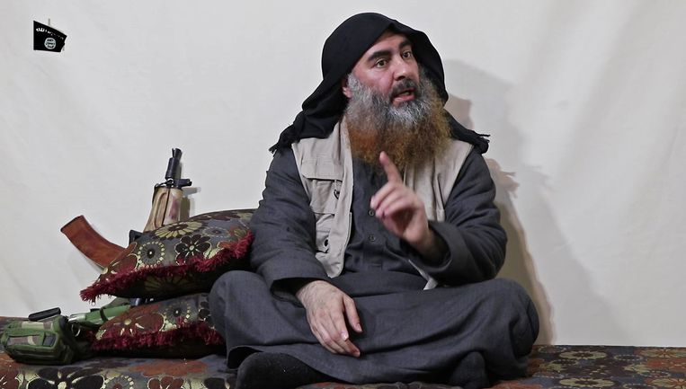 Zeldzaam beeld van Abu Bakr al-Baghdadi. Beeld ANP