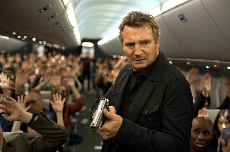 Liam Neeson in Non-Stop van Jaume Collet-Serra. Beeld