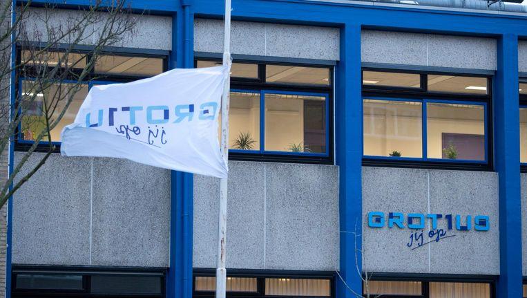 Het Grotius College in Heerlen, waar de jongen op school zat. Beeld ANP