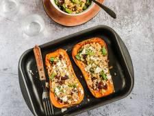 Wat Eten We Vandaag: Gevulde pompoen uit de oven met couscous