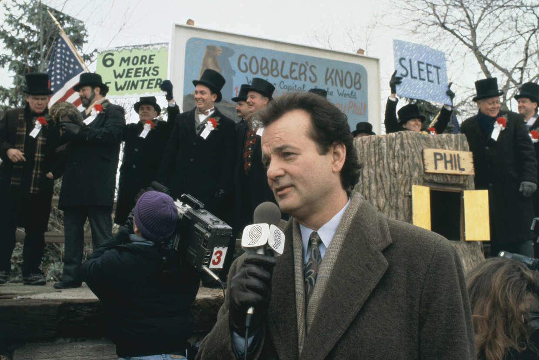 Bill Murray in 'Groundhog Day'. Beeld ANP Kippa