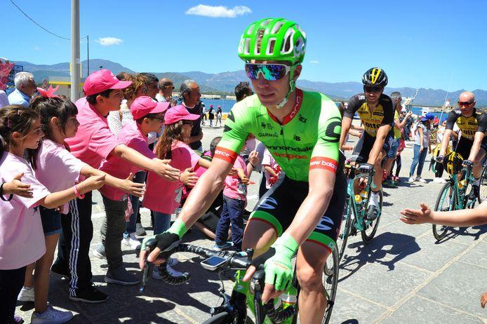 Tom-Jelte Slagter tijdens de Giro d'Italia in 2017.