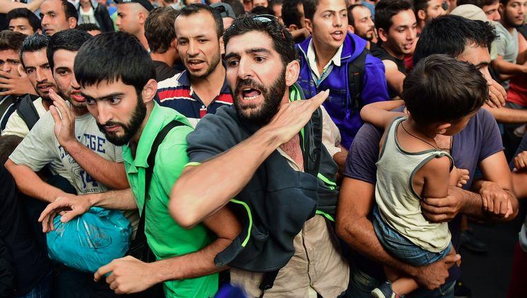 Vluchtelingen in Boedapest. Beeld afp