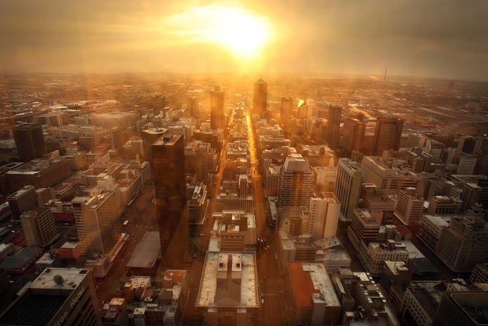 Het centrum van de Zuid-Afrikaanse stad Johannesburg.