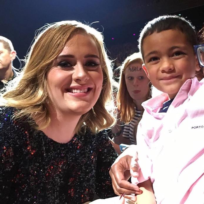 Adele en de 7-jarige Morrison uit Etten-Leur.