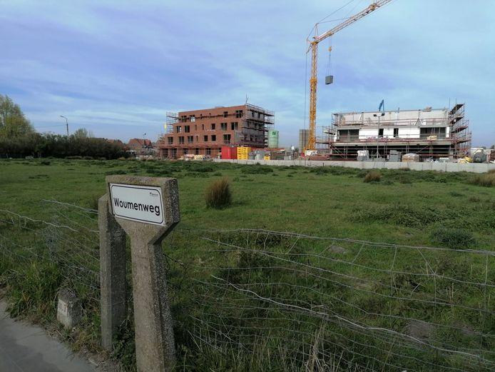 Jumbo heeft zijn oog laten vallen op deze site langs de Woumenweg