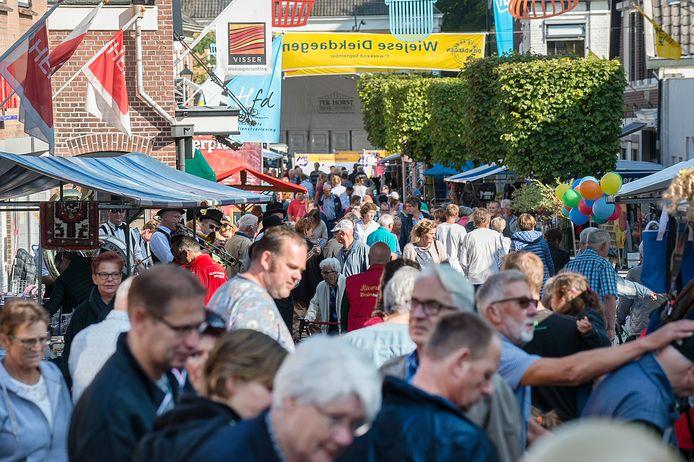 De Wiejese Diekdaegen vinden jaarlijks plaats in september. Zal het dit jaar weer gezellig druk zijn in Wijhe?