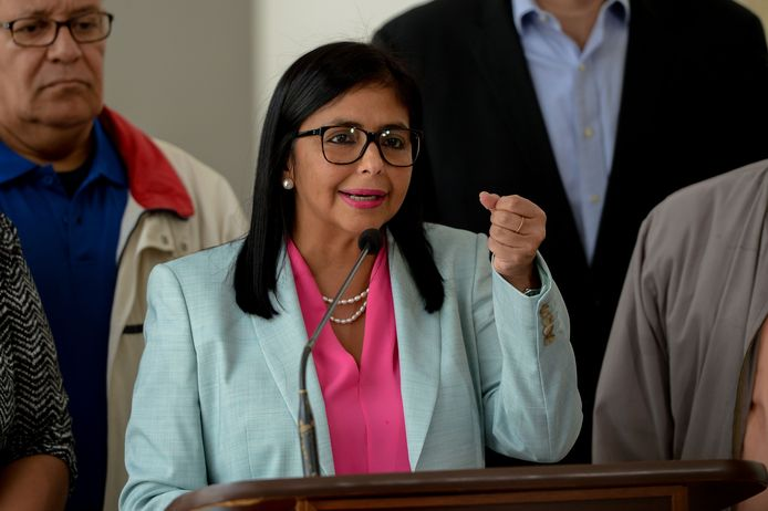 Regeringsfunctionaris Delcy Rodriguez.