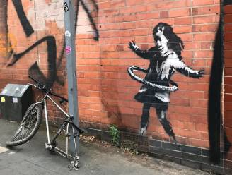 Werk van Banksy op huis in Nottingham verkocht en uit gevel gehaald