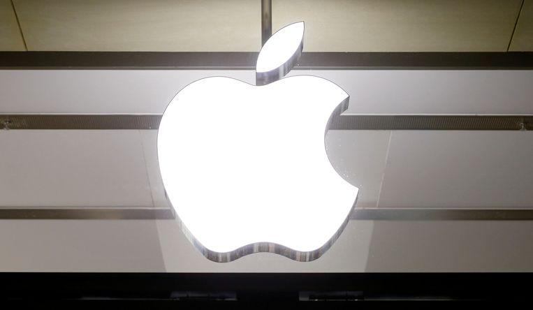 Het logo van het Amerikaanse technologiebedrijf Apple.