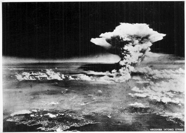 De atoombom op Hiroshima op 6 augustus 1945 Beeld EPA