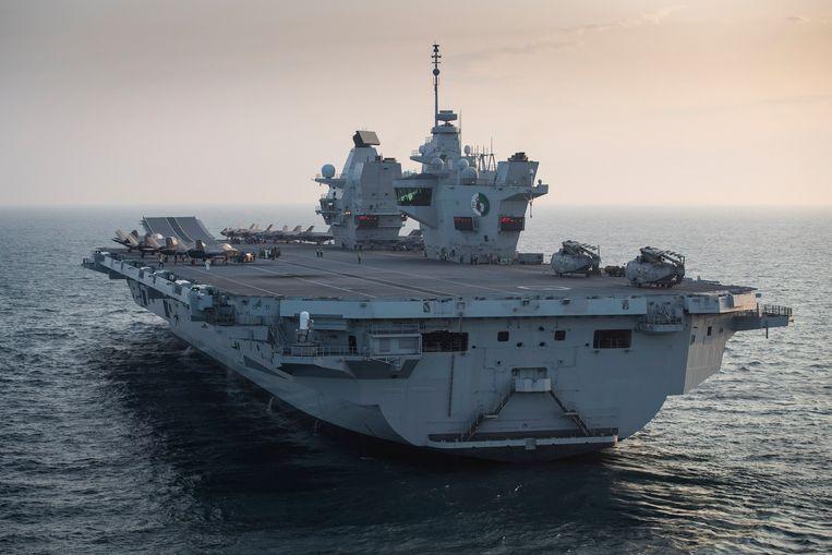 Straaljagers aan boord van de HMS Queen Elizabeth in 2020. Beeld Hollandse Hoogte / EPA