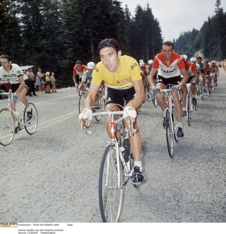 Eddy Merckx in 1969. Beeld Hollandse Hoogte / Presse Sports