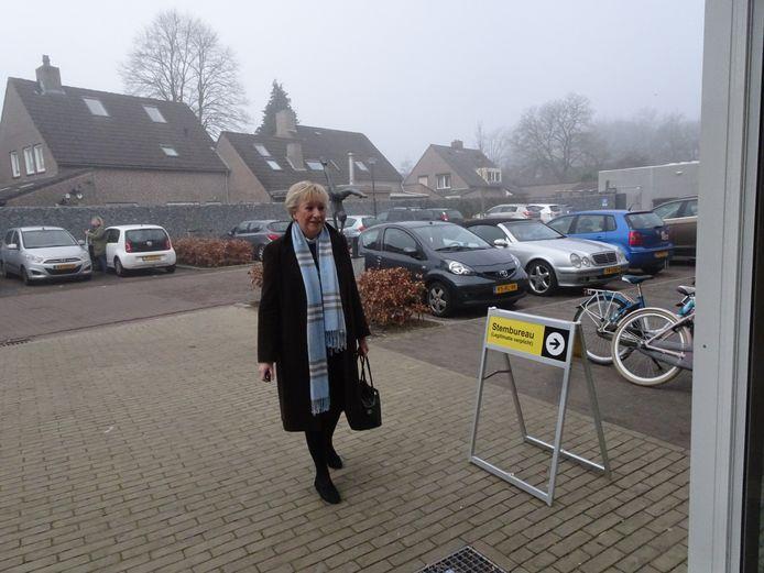 Wilma Korthagen bracht in Helvoirt vier stemmen uit.