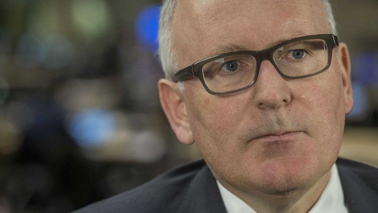 Timmermans baseerde zijn uitspraak op cijfers van Frontex, het EU-agentschap voor Europese buitengrenzen. Beeld ANP