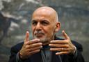 De Afghaanse president Ashraf Ghani.