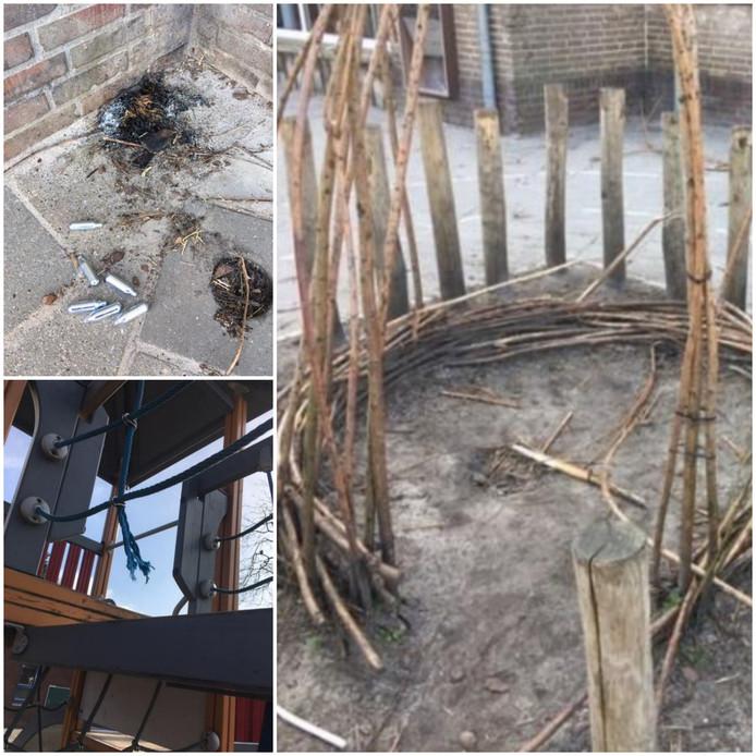 Op het schoolplein van De Klimboom in Eindhoven zijn de afgelopen weken diverse vernielingen gepleegd.