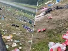 Frustrés, les spectateurs du Grand Prix de Belgique ont laissé les tribunes dans un état déplorable