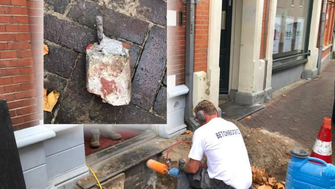 Geheime ondergrondse schat in Enschede blijkt... metalen pin: 'Dit doet wel een beetje pijn'