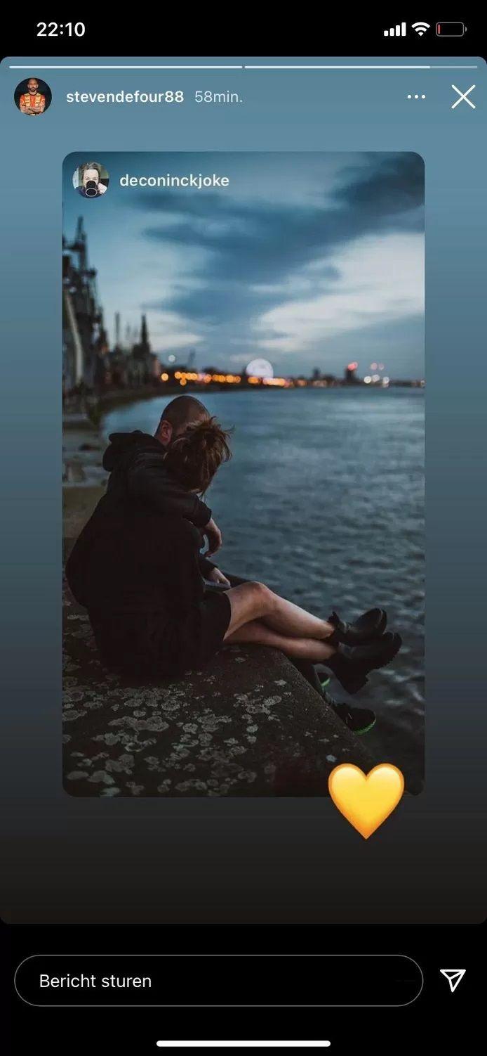 Defour et Joke s'affichent sur Instagram.