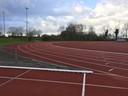De hele atletiekbaan van AV'56 voor mijzelf!