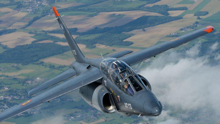 Een Belgische Alpha Jet. Beeld BELGA