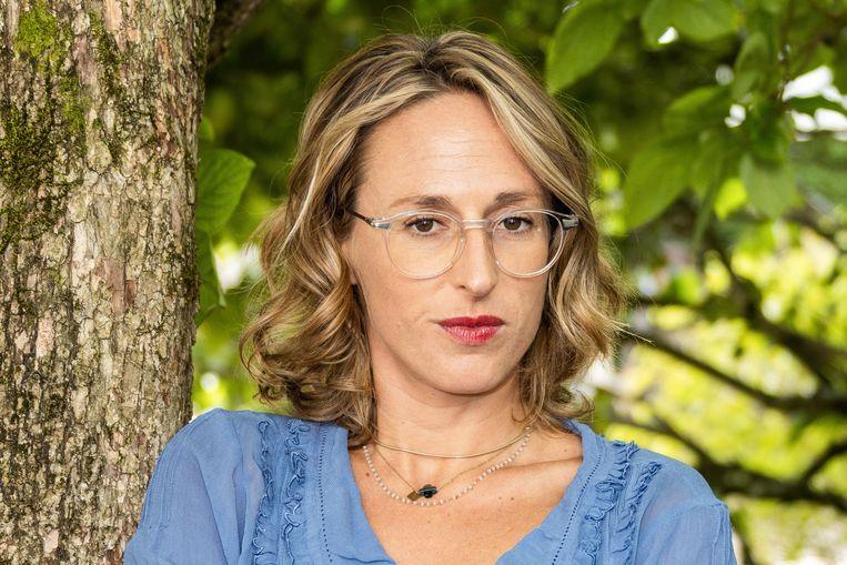 Charlène Favier: 'Het gaat me niet om de dader, maar om het feit dat er niemand is om Lyz te beschermen.' Beeld Hollandse Hoogte / AFP