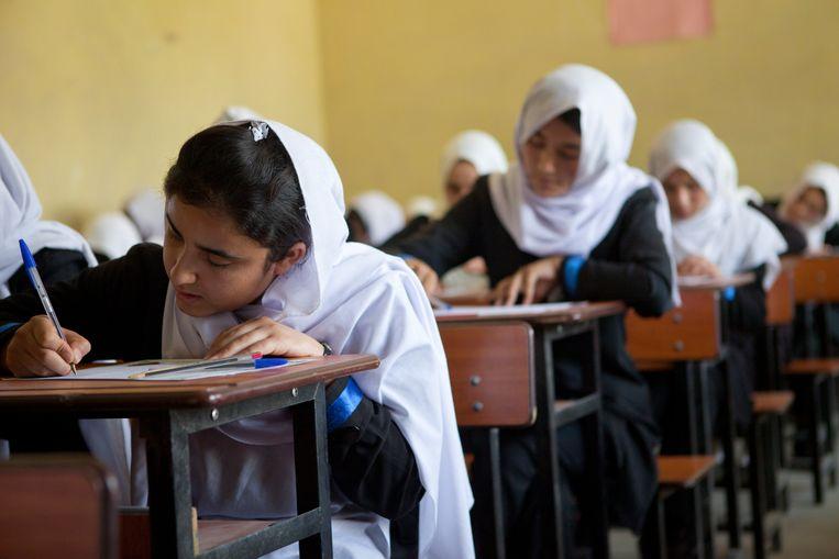 Een meisjesschool in Kaboel in 2012, toen de taliban niet aan de macht waren in Afghanistan. Beeld