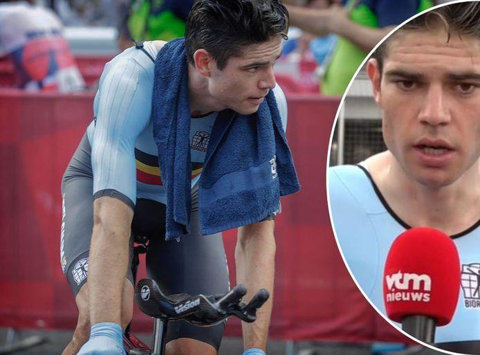Van Aert afgepeigerd na zijn zesde plaats in de olympische tijdrit.