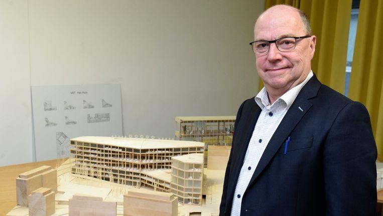 Huidig CEO Leo Hellemans stelde gisteren nog de plannen voor het nieuwe VRT-gebouw voor. Beeld PHOTO_NEWS