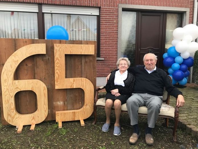 Henriette en Bernard zijn 65 jaar getrouwd.