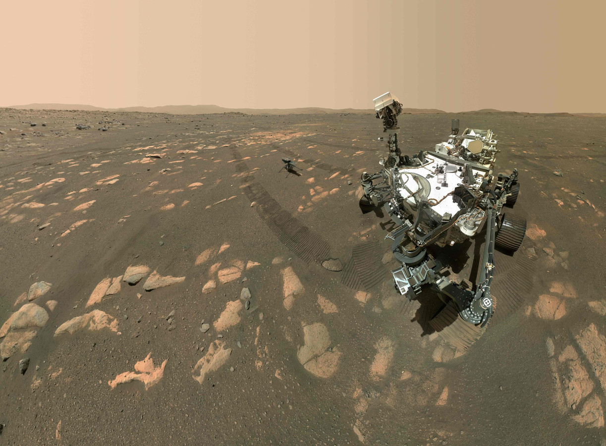 De Perseverance op Mars.