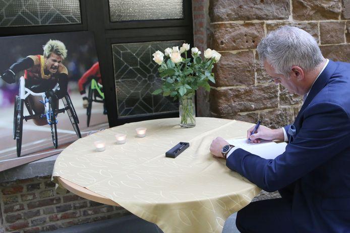 Burgemeester Christophe De Graef had veel bewondering voor Marieke.