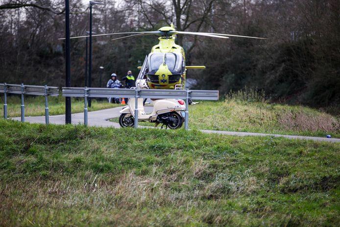 Een traumateam kwam woensdagmiddag ter plaatse na een ernstig ongeval op het Simon van der Meerpad in Papendrecht.