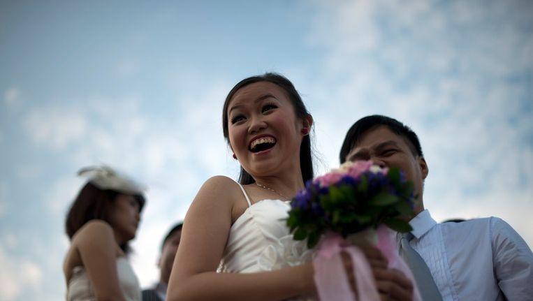Misschien leidt het huren van een vriend(in) wel tot een echt huwelijk Beeld AFP