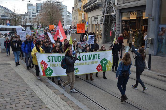 De klimaatmars van Students 4 Climate.