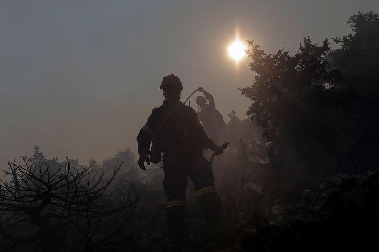 Veel landen rond de Middellandse Zee kampen op het moment met bosbranden. (Archieffoto) Beeld EPA