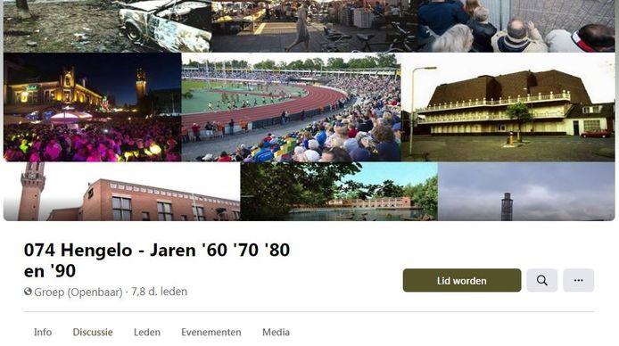 Screenshot van de Facebookpagina 074 Hengelo - Jaren '60 '70 '80 en '90
