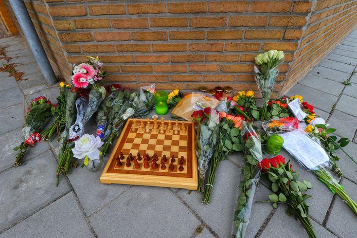 Bloemen op de plek van het ongeval