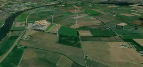 Vier windmolens in de polder, het zou zomaar kunnen