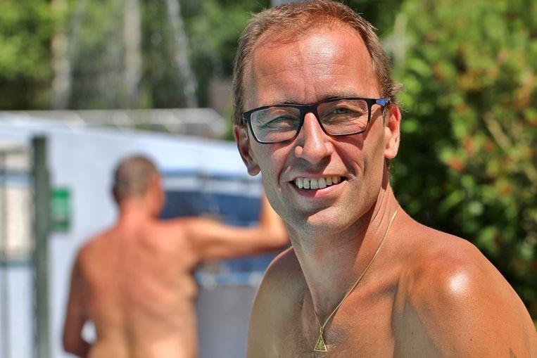 Koen Meulemans, voorzitter van de Federatie van Belgische Naturisten. Beeld RV