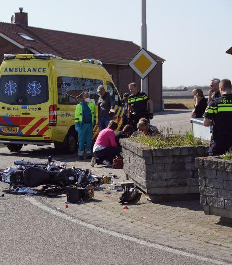 Motorrijder overleden na aanrijding met auto bij Halle