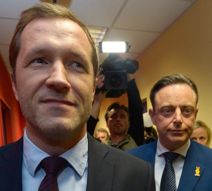 Paul Magnette et  Bart De Wever, présidents du PS et de la N-VA.