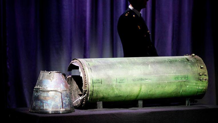 Onderdeel van de BUK raket die MH17 neerhaalde. Beeld anp