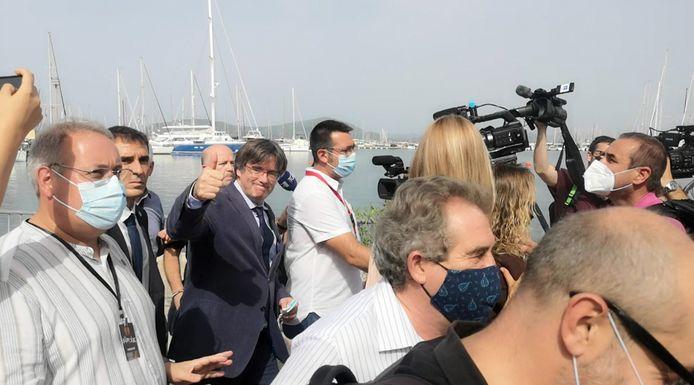 Carles Puigdemont à Alghero, en Sardaigne